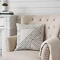 Slub Knit Embroidered Pillow