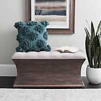 Lilly Curved Storage Bench with Tufted Top