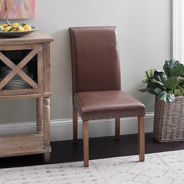 Cool Faux Leather Parson Chair Creativecarmelina Interior Chair Design Creativecarmelinacom