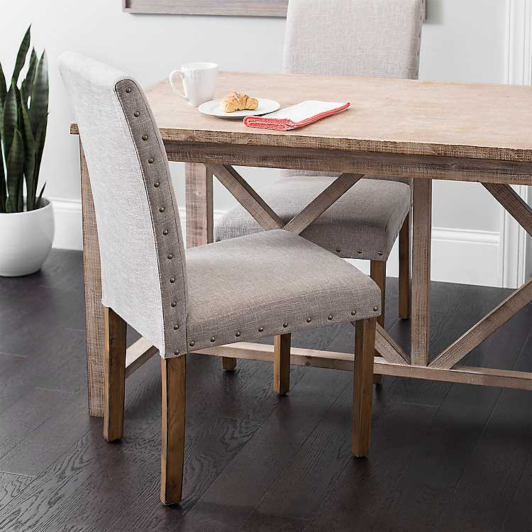 Sand Studded Parson Dining Chair