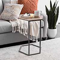 Hexagon C-Table with Beaded Trim