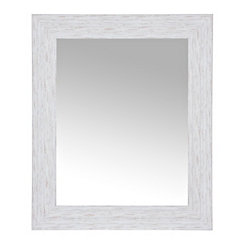 Weathered Gray Wall Mirror 27x33 In