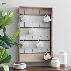 Wood And Metal Wall Mug Holder