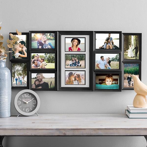 Black 13-Opening Photo Collage Frame