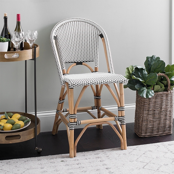 Black and White French Bistro Counter Stool