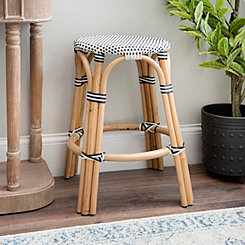 Black And White French Bistro Bar Stool
