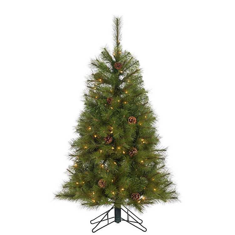 4 Ft Christmas Tree.4 Ft Pre Lit Hard Needle Christmas Tree