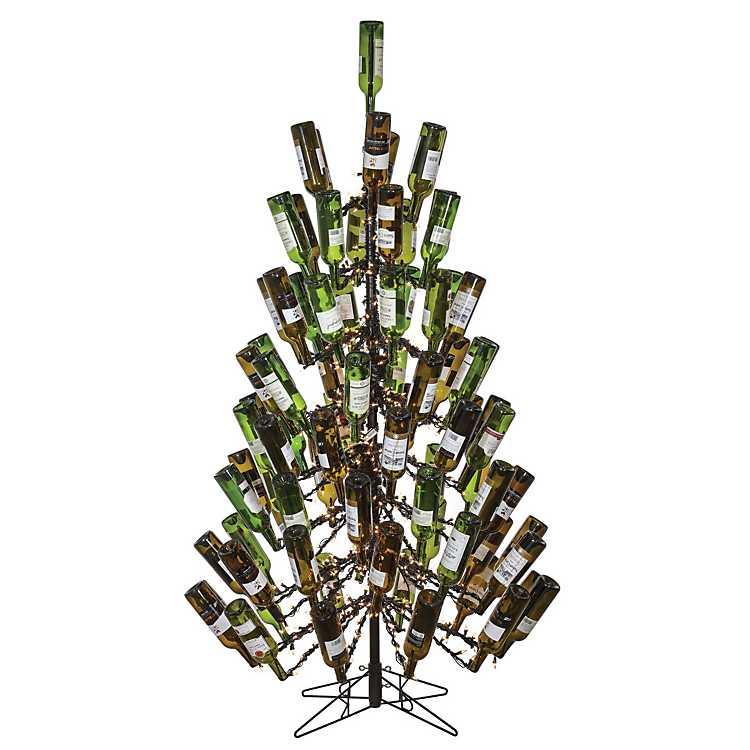 Wine Bottle Christmas Tree Rack.7 Ft Pre Lit Wine Bottle Holder Christmas Tree