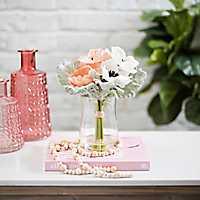 Pastel Anemone Arrangement in Glass Vase