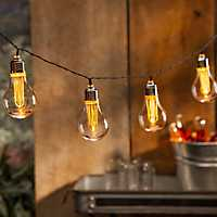 Brown Battery Powered Edison Bulb String Lights