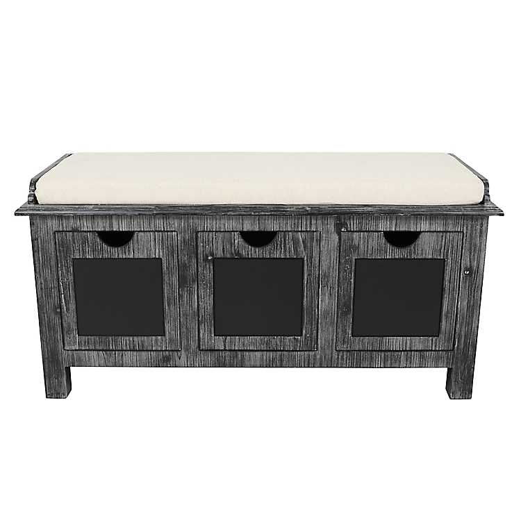 Chalkboard 3 Drawer Storage Bench ...