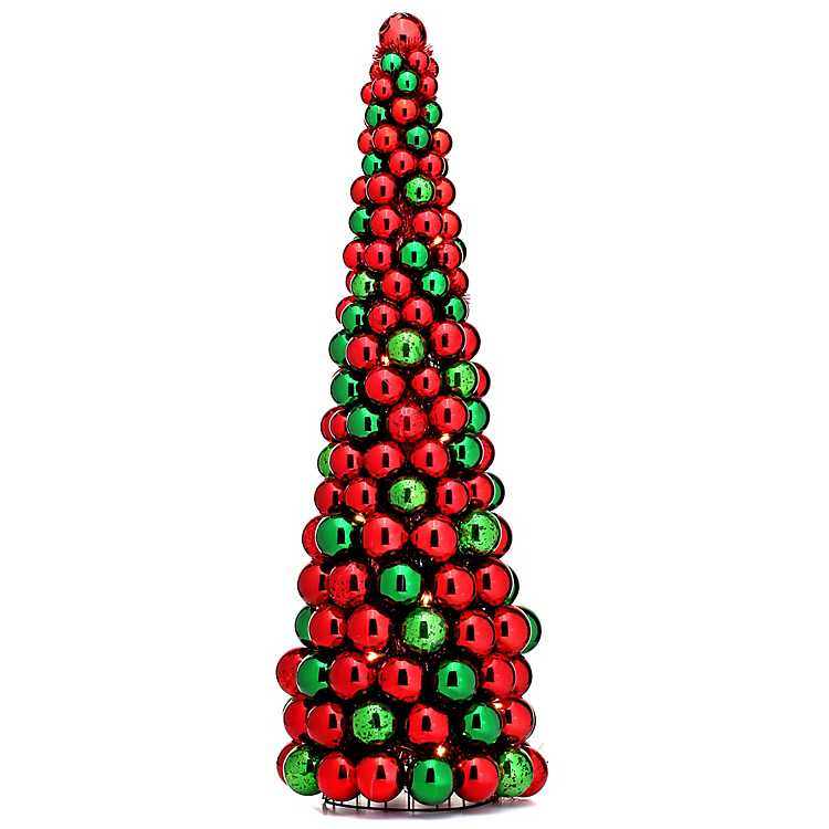 Red and Green LED Ornament Christmas Tree | Kirklands