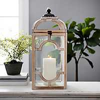 Natural Wood Cutout Brody Lantern