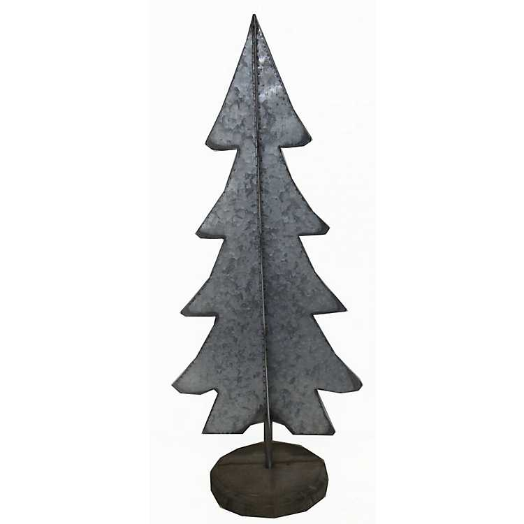 silver metal christmas tree on stand - Metal Christmas Decoration Stand