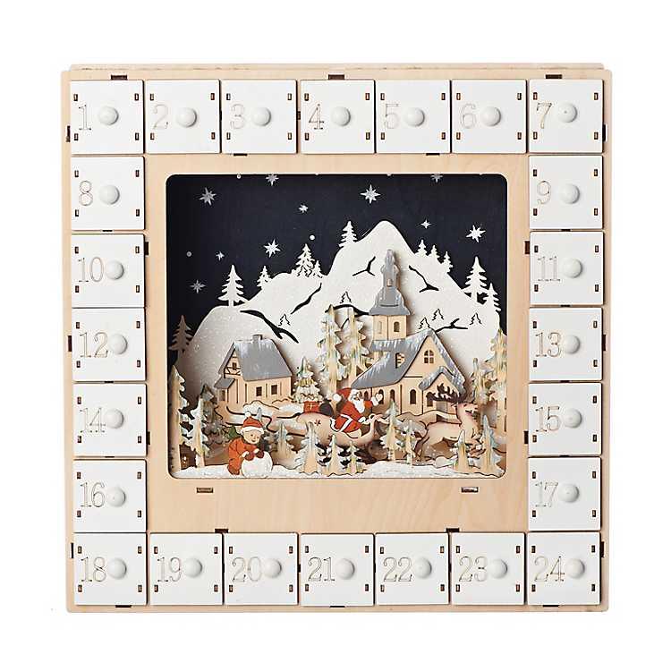 Laser Cut LED Christmas Village Countdown | Kirklands