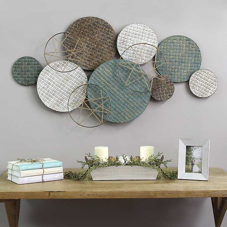 Textured Metal Plates Wall Sculpture