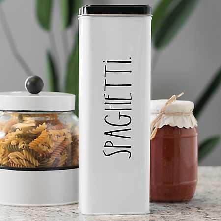 Rae Dunn Spaghetti Tin Storage Box