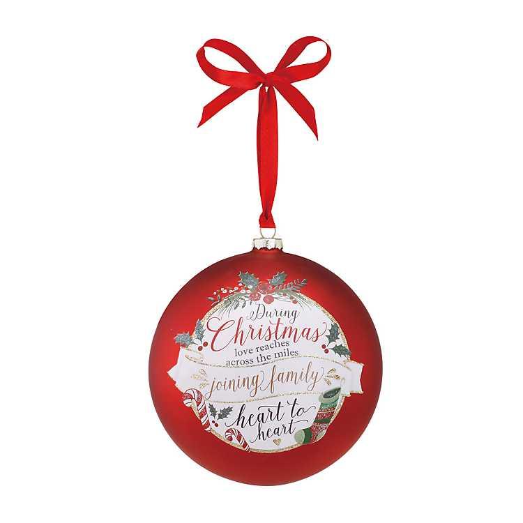 Joining Family Jumbo Glass Christmas Ornament | Kirklands