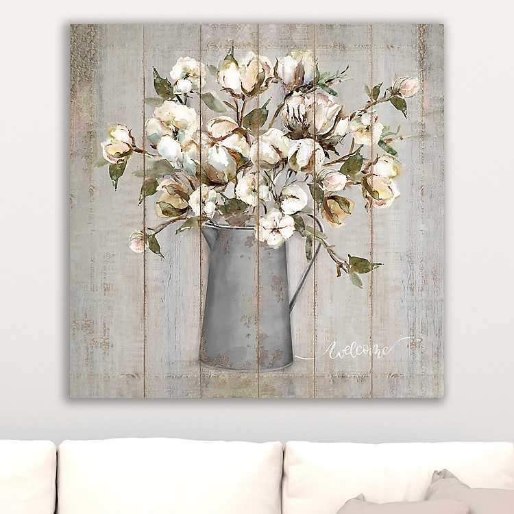 Product Details Wooden Flower Giclee Canvas Art Print