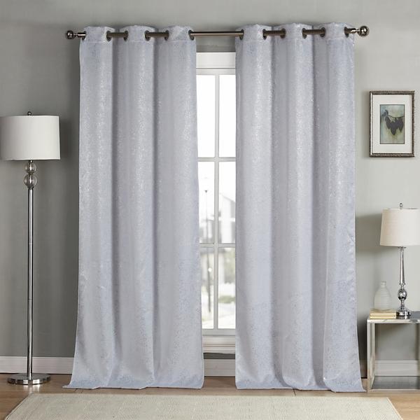 White Maddie Blackout Curtain Panel Set
