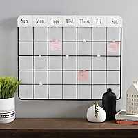 Metal Calendar Memo Clip Wall Organizer