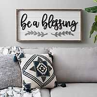 Be a Blessing Plank Wall Plaque