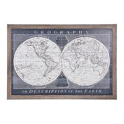 Old World Globe Framed Art Print