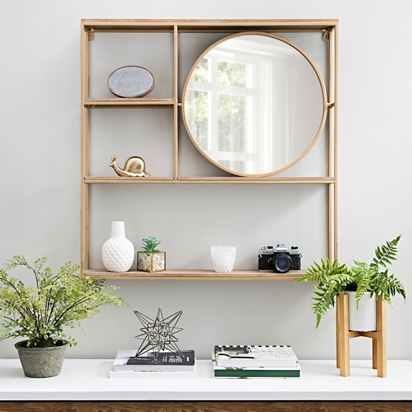 Dressing Wall Valet with Mirror