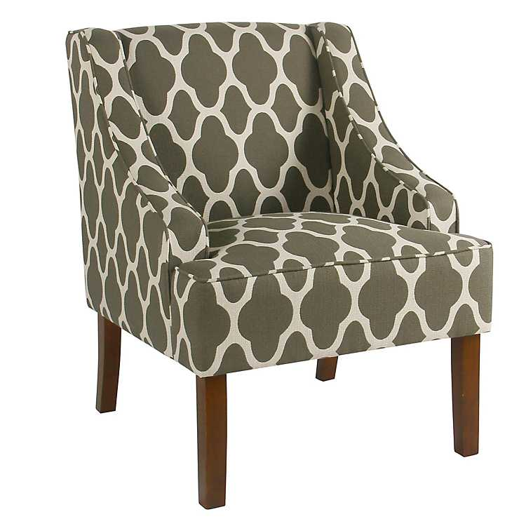 Geometric Gray Swoop Arm Chair ...