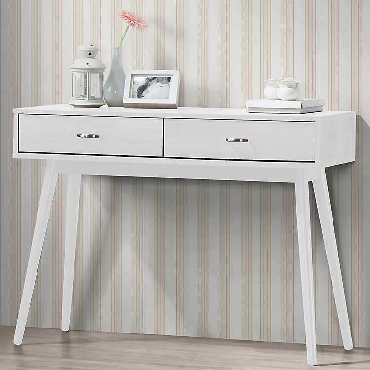 Product Details Montage Mid Century White Desk