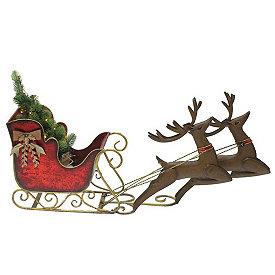Outdoor Christmas Sleigh.Outdoor Christmas Decorations Kirklands