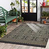Greek Key Sun Shower Outdoor Area Rug