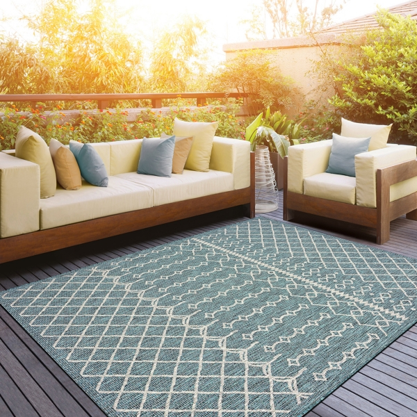 Placid Portico Sun Shower Outdoor Area Rug