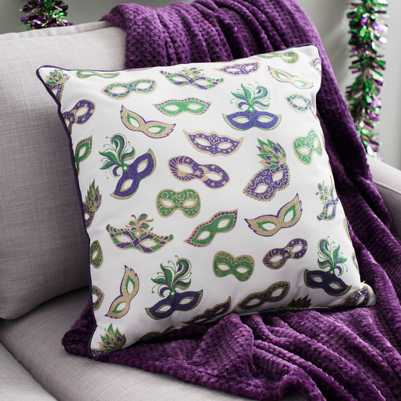 Mardi Gras Masks Pillow