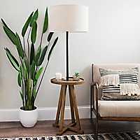 Brown and Black Relics Shelf Floor Lamp