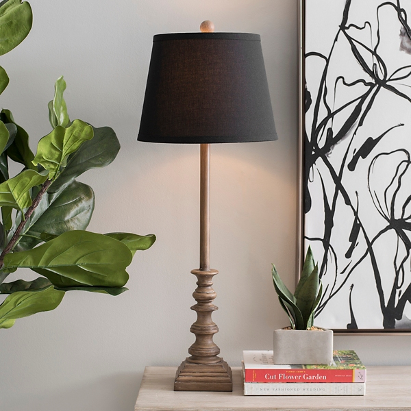Walden Natural Black Shade Buffet Lamp
