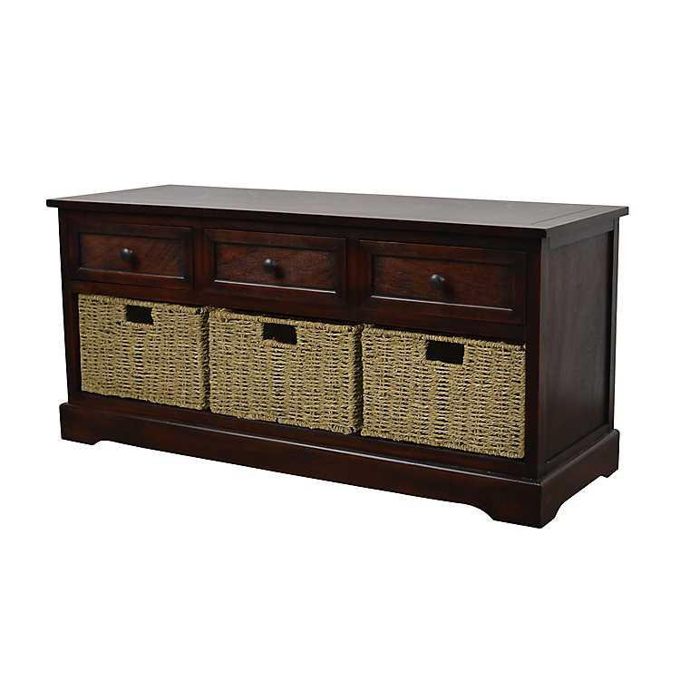 Cool Antique Mahogany Wicker Basket Storage Bench Theyellowbook Wood Chair Design Ideas Theyellowbookinfo