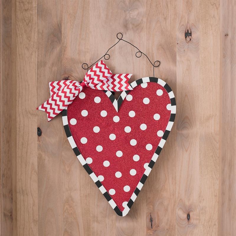 Polka Dot Valentine Door Hanger