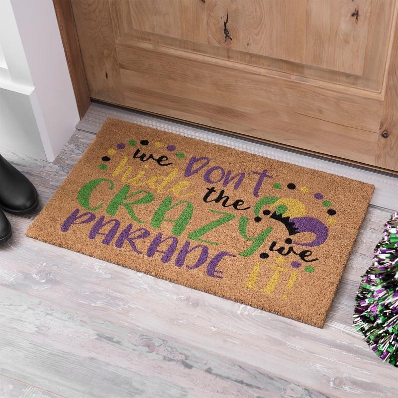 Crazy Parade Mardi Gras Doormat