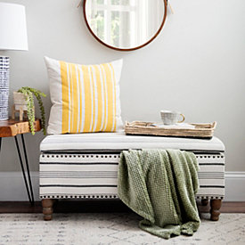 Tremendous Ottomans Benches Storage Benches Kirklands Bralicious Painted Fabric Chair Ideas Braliciousco