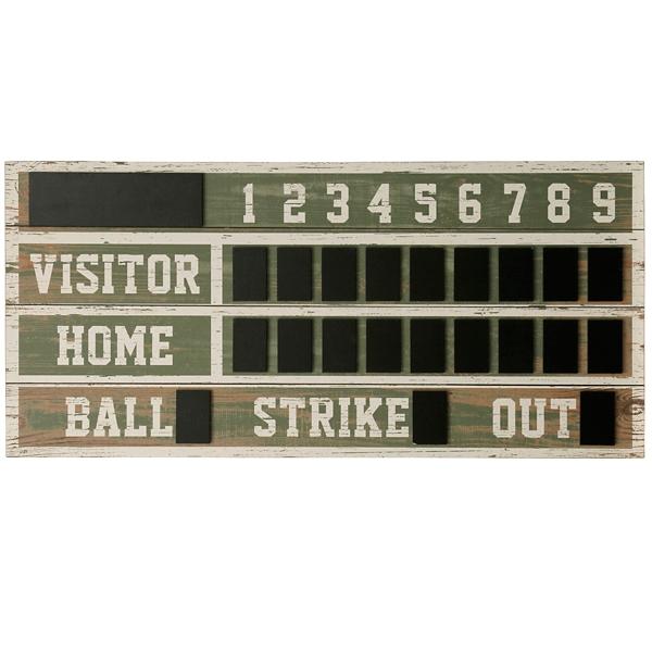 Vintage Ballpark Scoreboard Chalkboard Wall Plaque | Kirklands