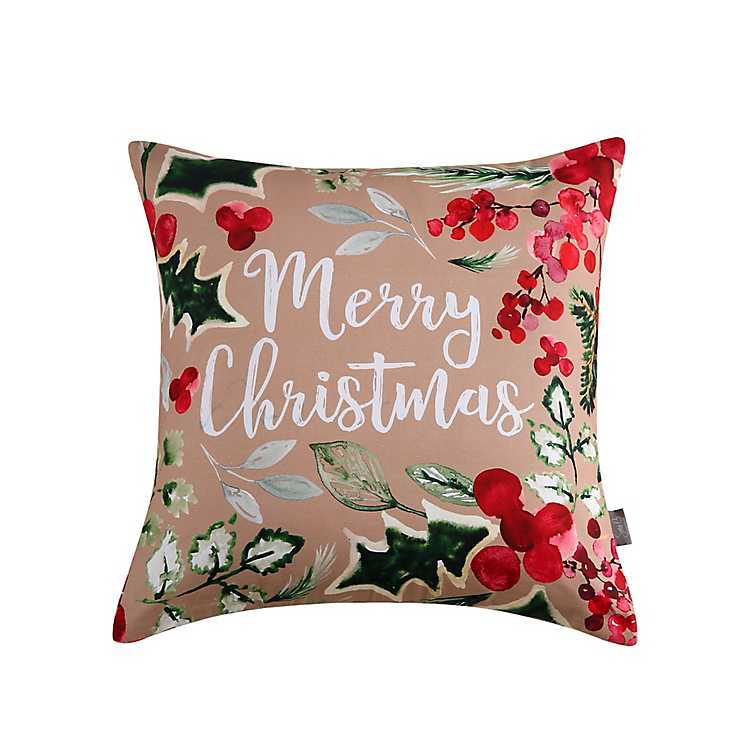 sara b merry christmas pillow