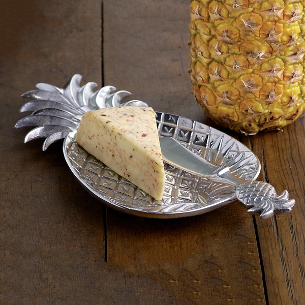 Silver Pineapple Textured Tray