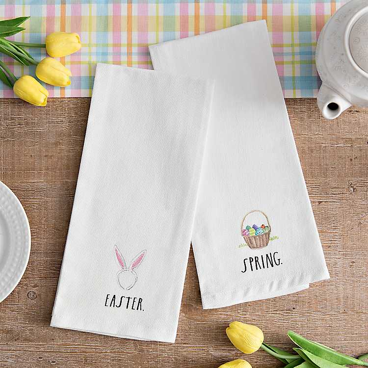 Spring Tea Towels, Set of 2