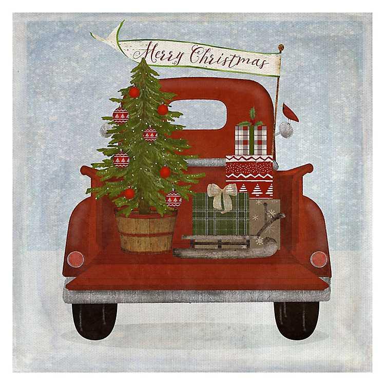 Christmas Truck II Canvas Art Print | Kirklands