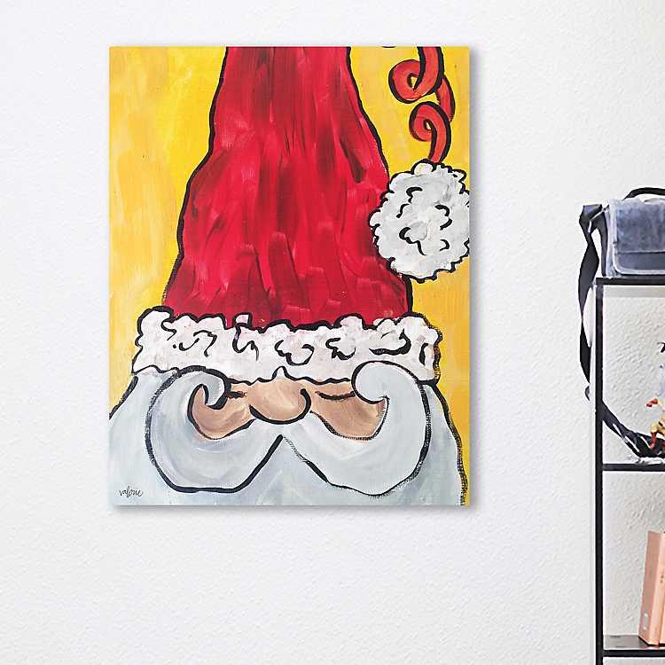 Sleep Santa Christmas Canvas Art Print | Kirklands