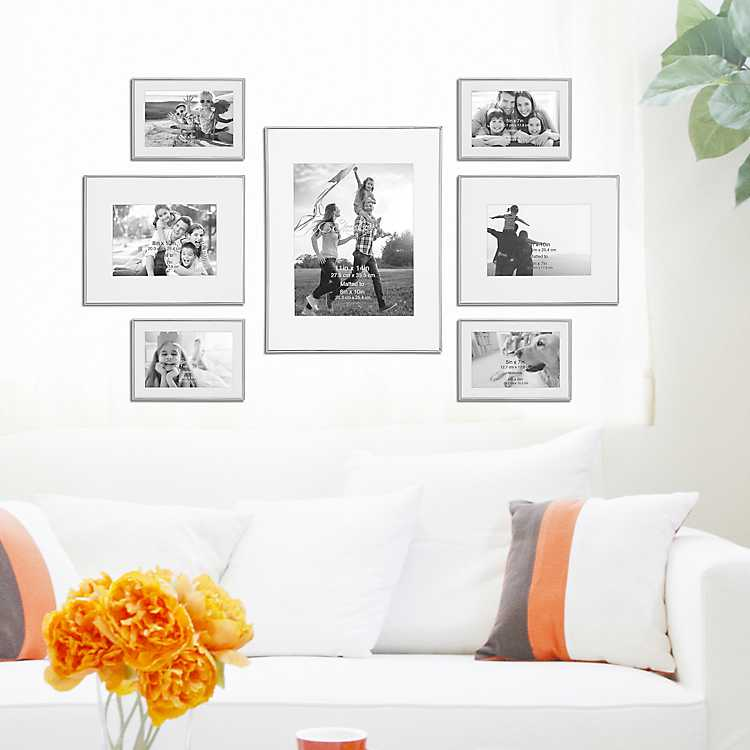 Silver 7 Pc Gallery Wall Picture Frame