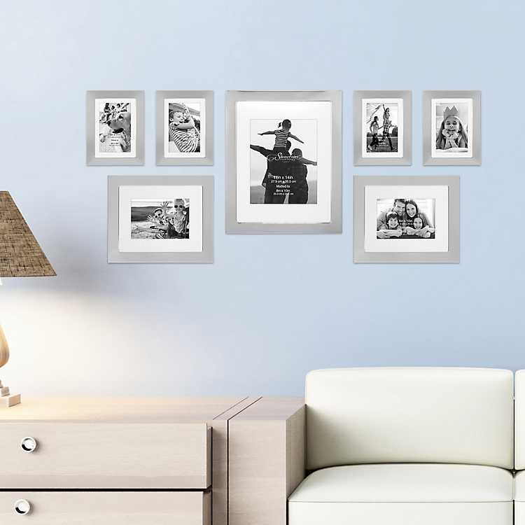 Shiny Silver 7 Pc Gallery Wall Picture Frame Set Kirklands
