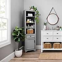 Tyler Vintage Gray Storage Cabinet