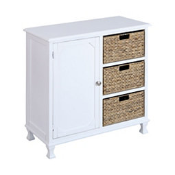 Penny 1 Door Chest With 3 Basket Drawers